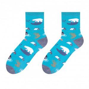 Arctic colorful socks design 1
