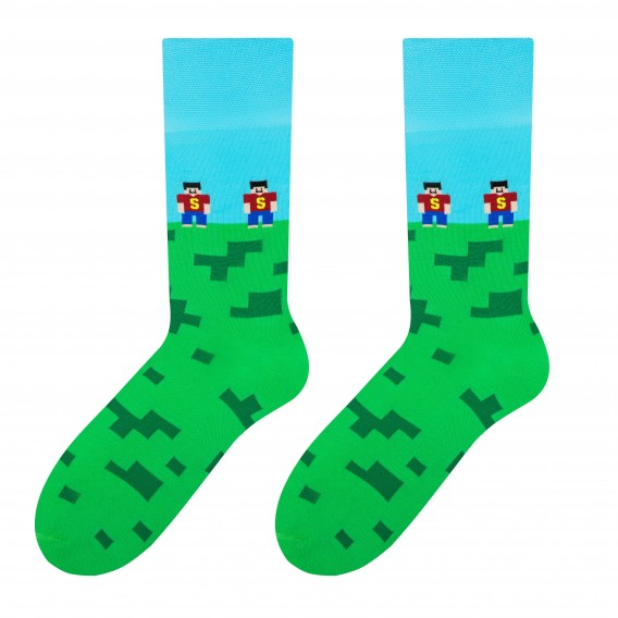 Brick - men's socks design 1