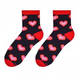 Hearts socks design 1