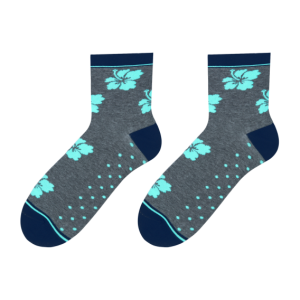 Hibiscus socks design 1