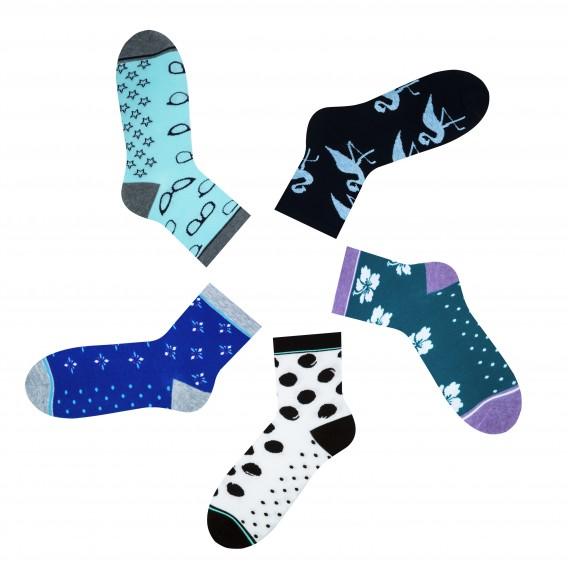 Mint-blue gift women's socks