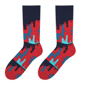 Peacock men's socks design 1