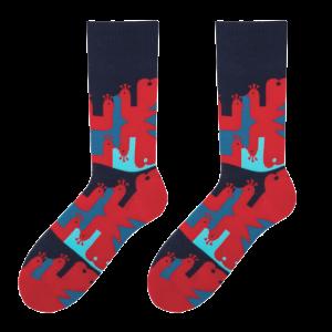 Peacock men's socks design 1