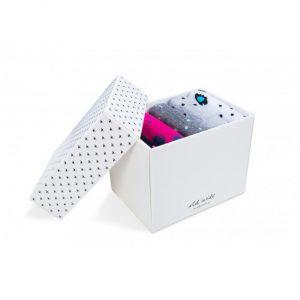 Pink-gray gift socks