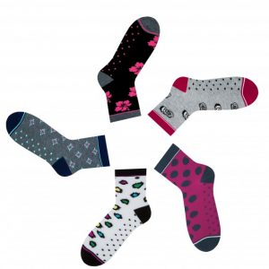 Pink-gray gift women's socks