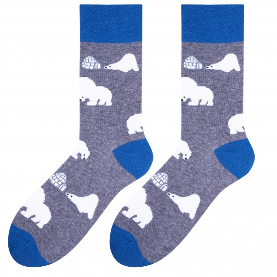 Polar Bears socks design 1