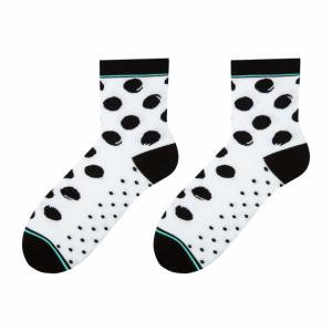 Spots colorful socks design 1