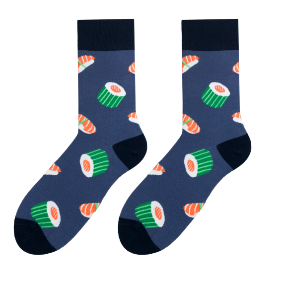 Sushi men's socks design 1