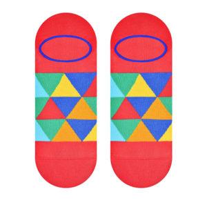mosaic socks red